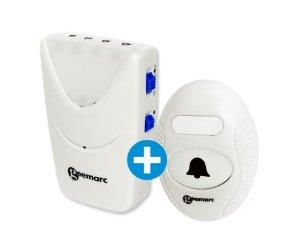 Amplicall 1 - wireless door bell with Amplicall 50 - Vibrating Ringing Indicator Alerter